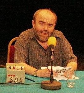 Andy Hamilton at the Mic