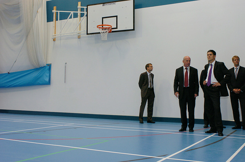 David Miliband Views new gym facility