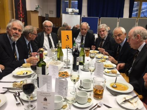 L to R 60s table Hare Gee Ruddy Reiid Sackett Jacobs Leach